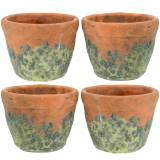 Vaso per fioriera vintage argilla naturale Ø8,5 cm H7 cm 4 pezzi