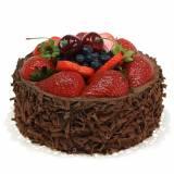 Torta alla crema di cioccolato artificialmente Ø15cm H11,5cm