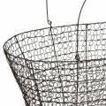 Borsa con manico per cesto metallico 34,5 cm H22 cm / 29 cm H18,5 cm set di 2