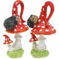 Agarico di mosca con decorazione riccio decorazione autunnale fungo H14cm 2 pezzi