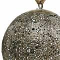 Sfera di metallo antica per appendere Ø13,5cm